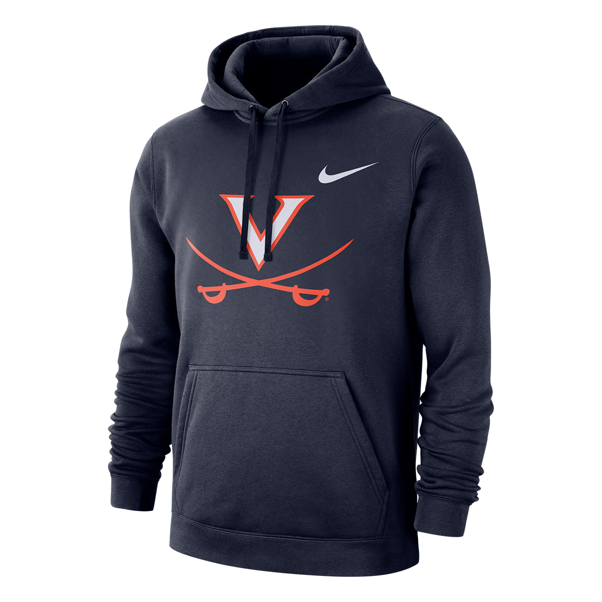 University of Virginia Nike V-Saber Navy Fleece Hoodie