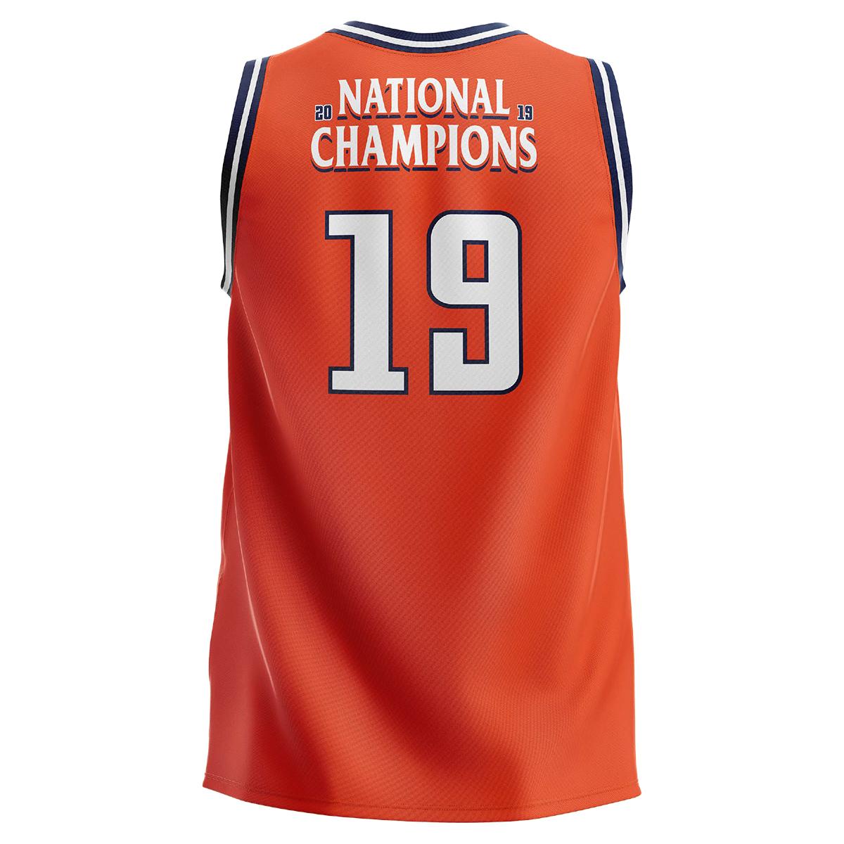 UVA 2019 National Champions Youth Orange Jersey