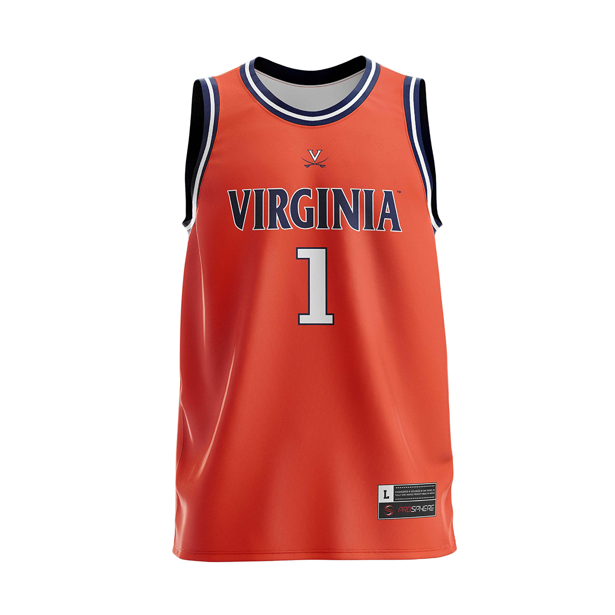 UVA 2019 #1 National Champions Adult Orange Jersey