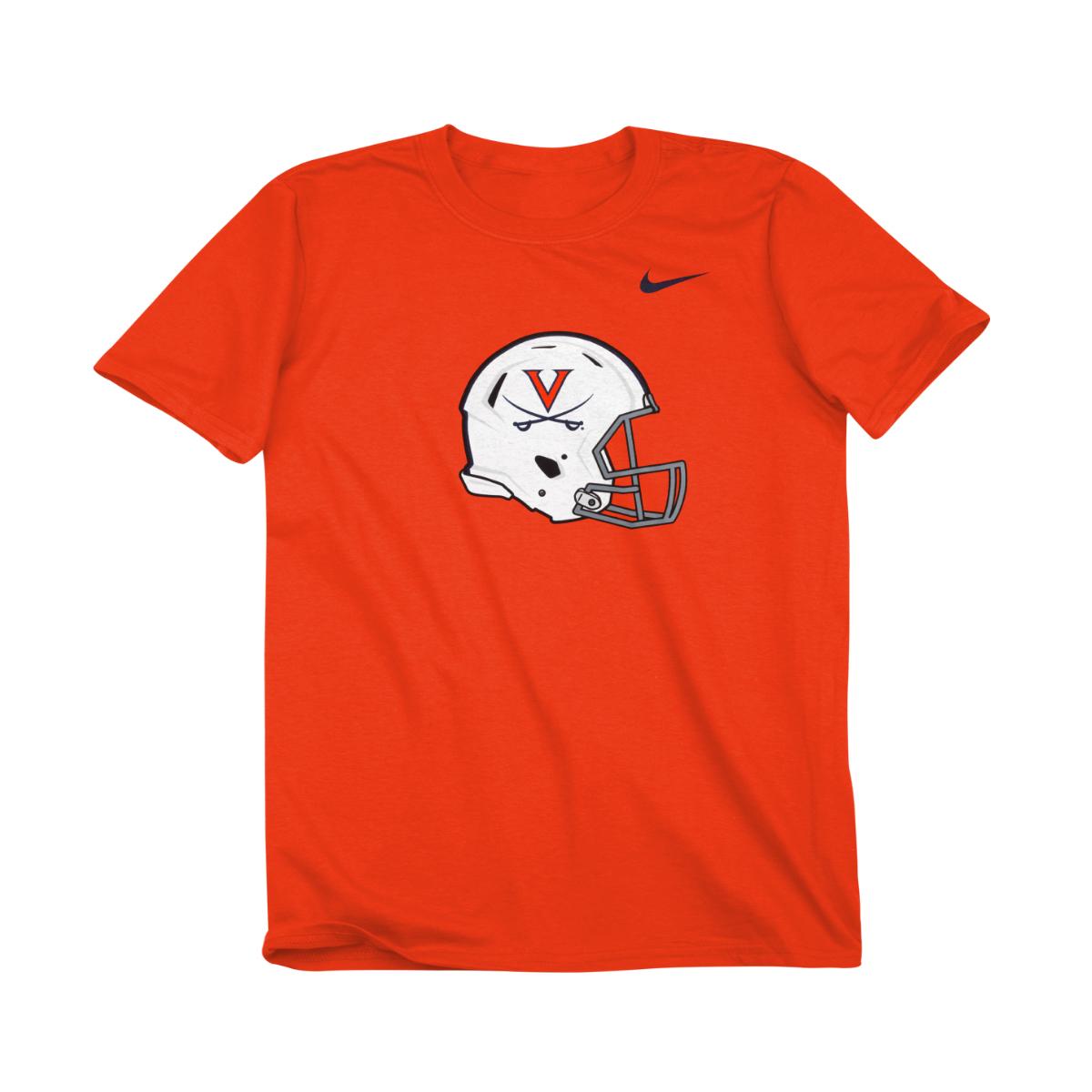 University of Virginia Football Helmet Youth T-shirt