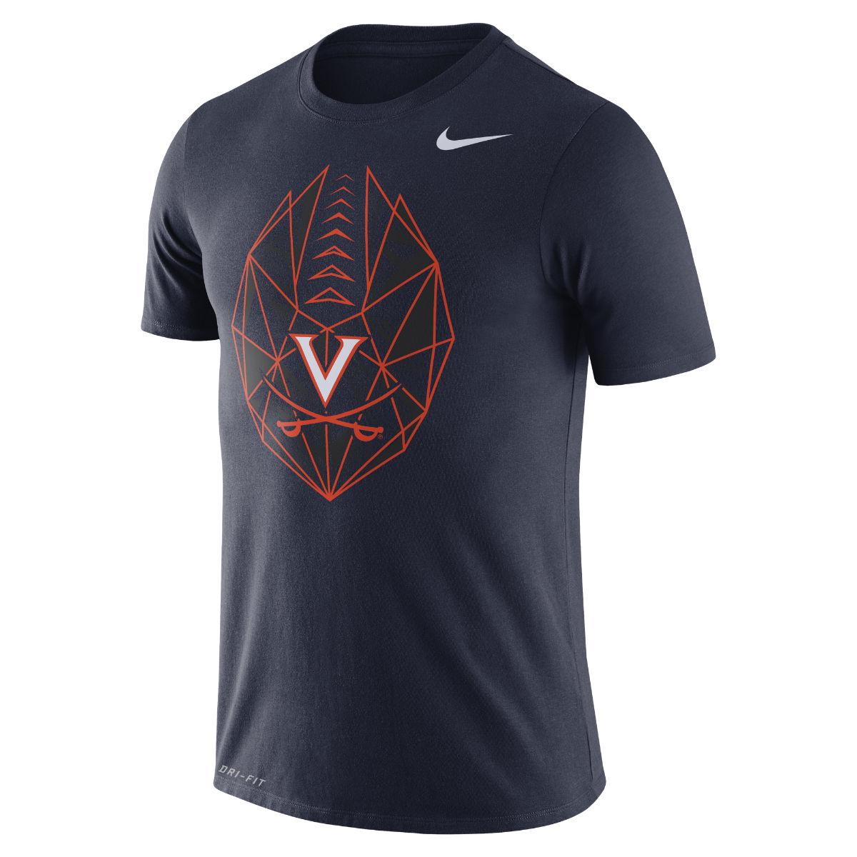 University of Virginia Football Icon NIKE T-shirt