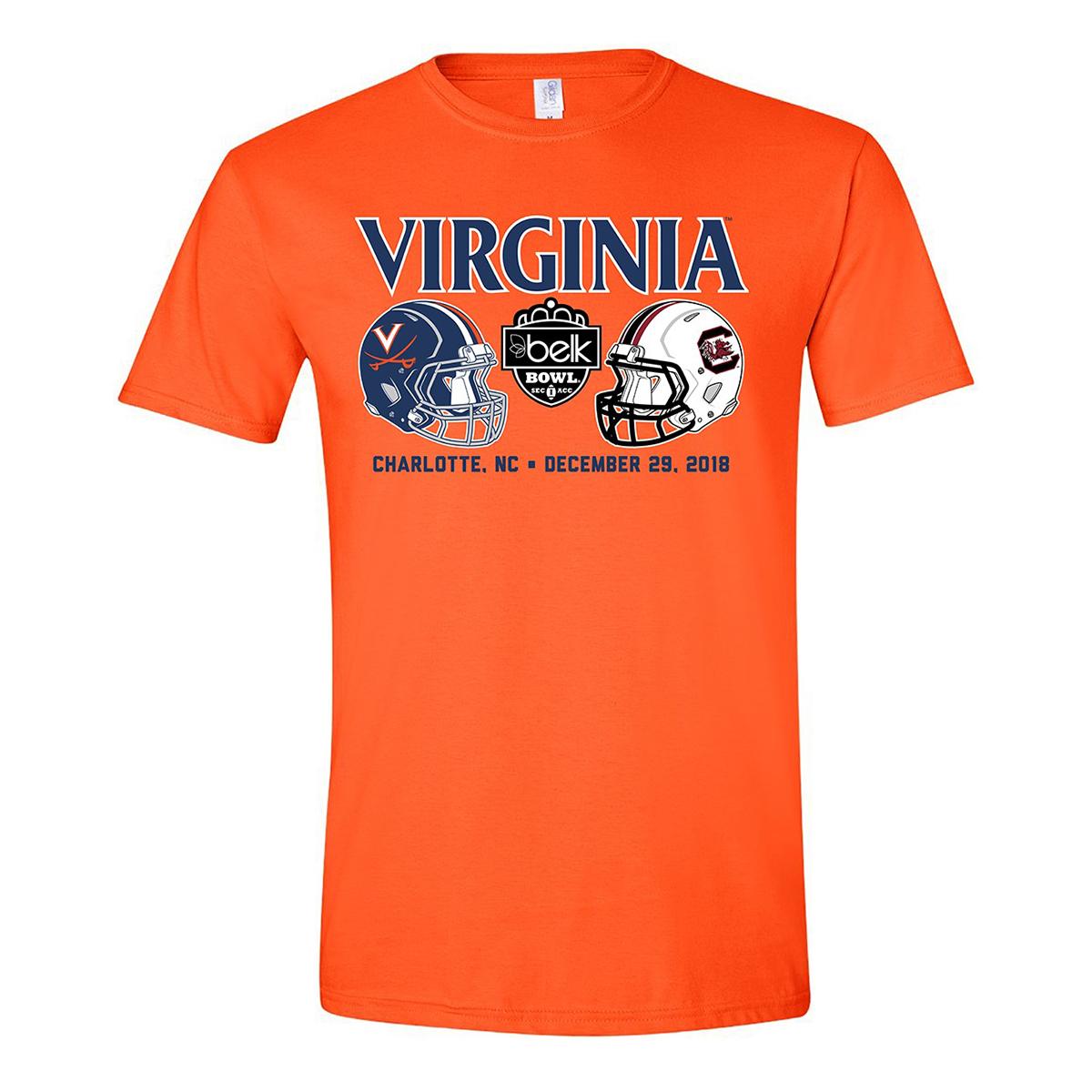 University of Virginia 2018 Belk Bowl Helmets T-shirt