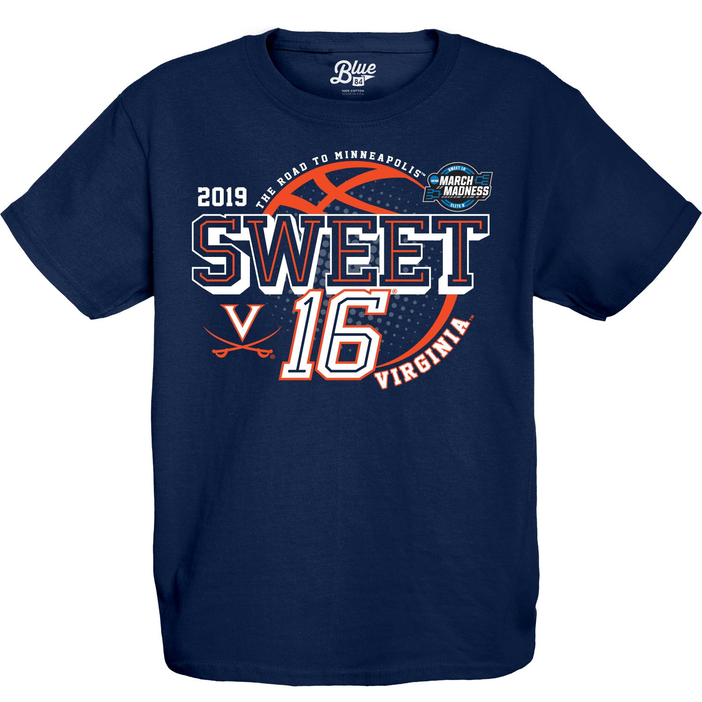 University of Virginia 2019 Youth Navy Sweet Sixteen T-shirt