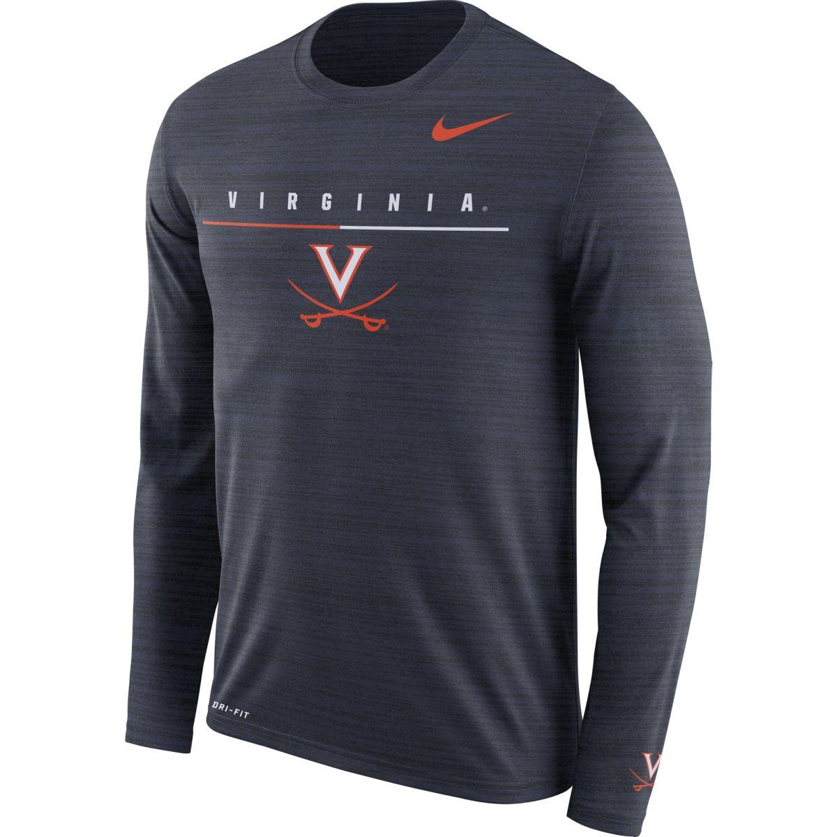 University of Virginia Dri-Fit V-Sabre Long Sleeve Travel T-shirt