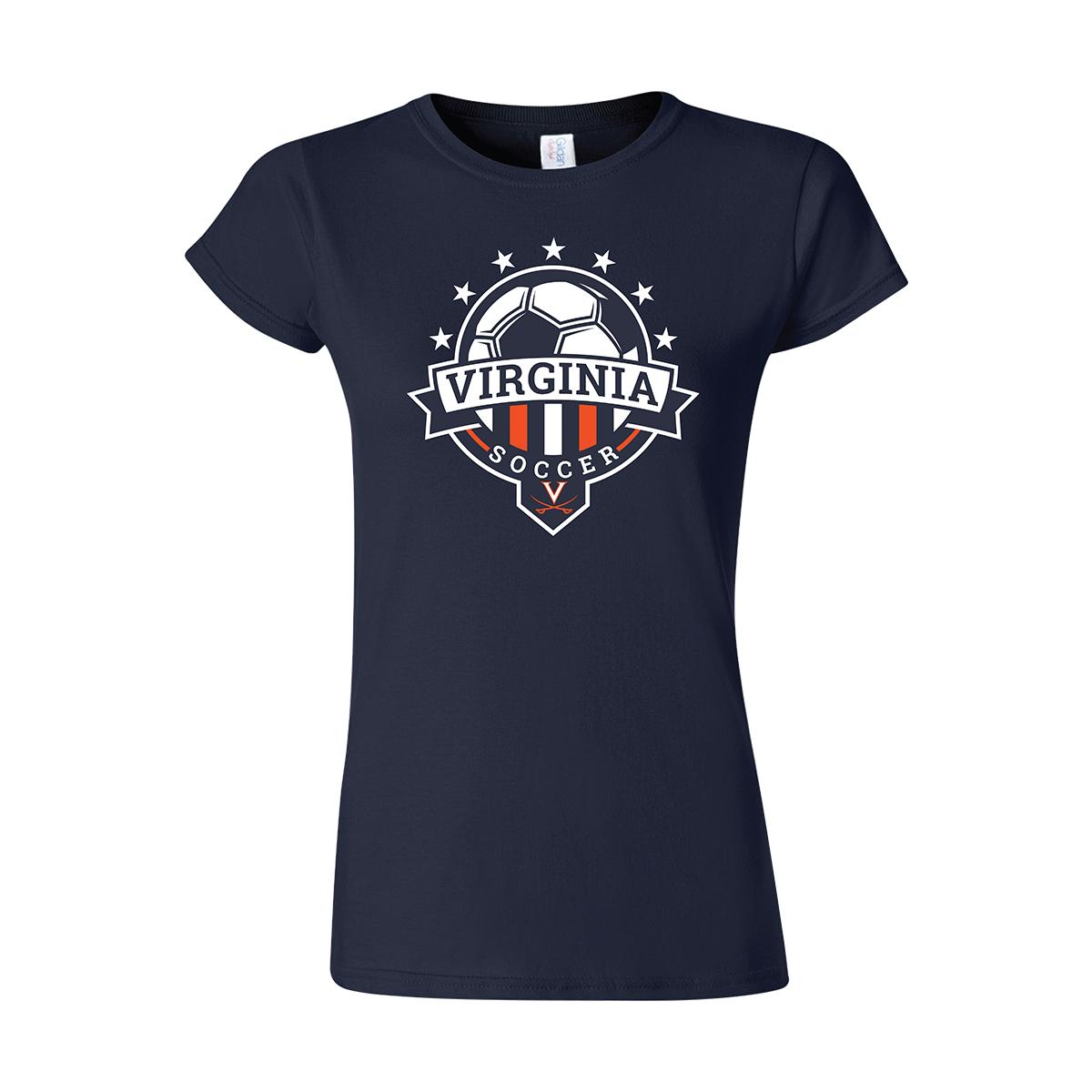 UVA Soccer Ladies Navy T-shirt