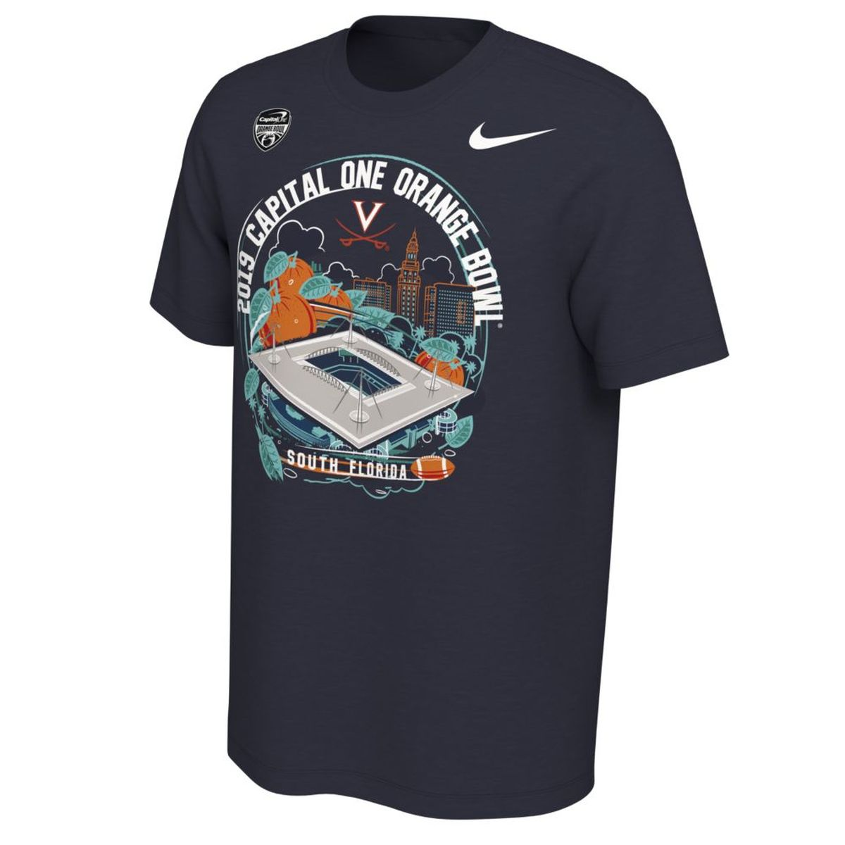 Virginia Cavaliers 2019 Orange Bowl Stadium T-shirt