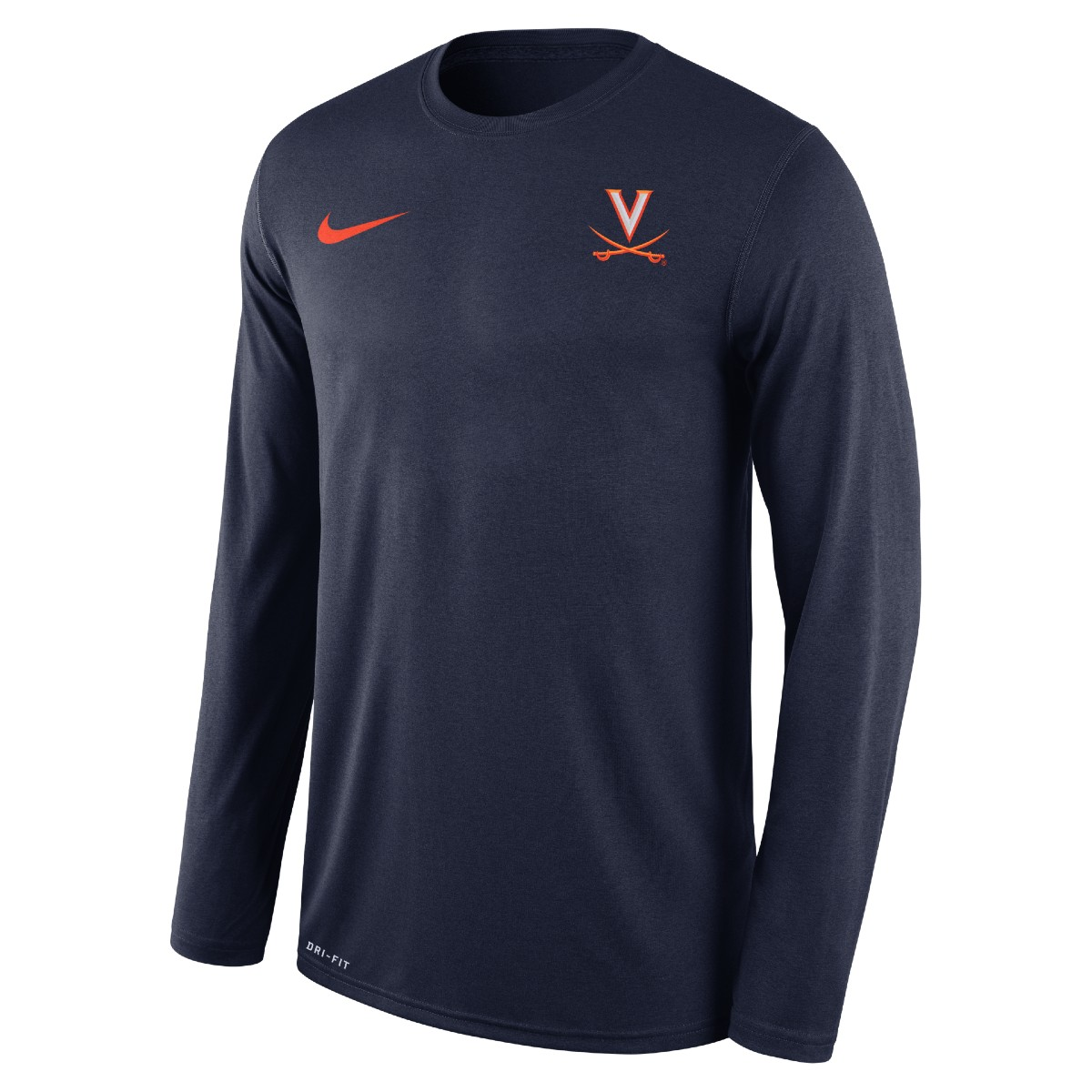 University of Virginia LS Nike Legend Navy T-shirt