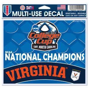 UVA Men's Soccer NCAA Champions Decal