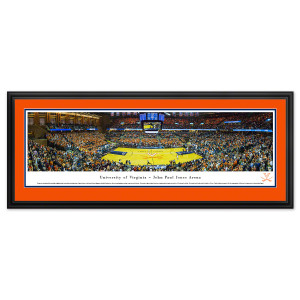 UVA Basketball Panorama Deluxe Frame (44 x 18)