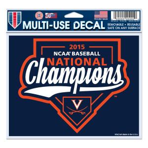 "UVA CWS Champions 4.5"" x 6"" Multi-Use Decal"