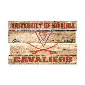 "University of Virginia Cavaliers Plank Sign - 19"" x 30"""