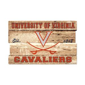 "University of Virginia Cavaliers Plank Sign - 19"" x 30"""