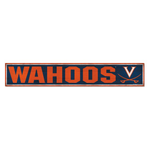 "University of Virginia Wahoos Wood Sign - 6"" x 36"""