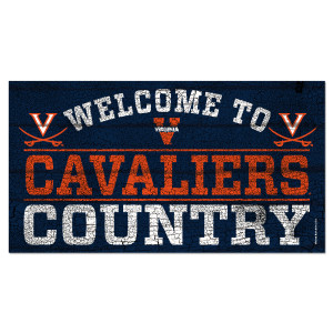 "University of Virginia Welcome to Cavaliers Country - 13"" x 24"""