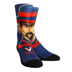 University of Virginia Cavaliers 'Cav-Man' Adult Socks