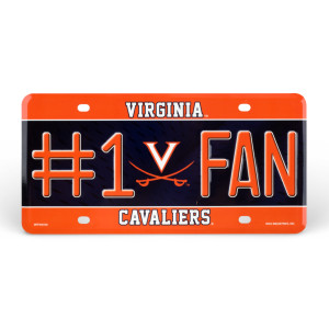 University of Virginia #1 Fan License Plate