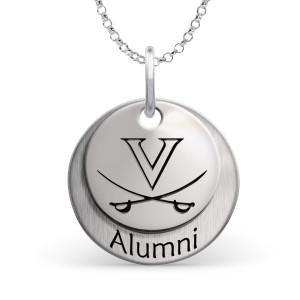 University of Virginia Cavaliers Alumni Necklace - Sterling Silver