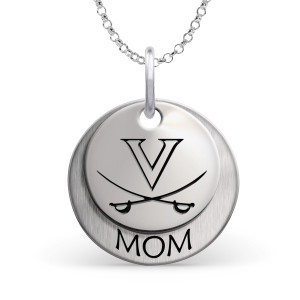 University of Virginia Cavaliers MOM Necklace - Sterling Silver