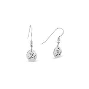 University of Virginia Cavaliers Oval Earrings - Sterling Silver