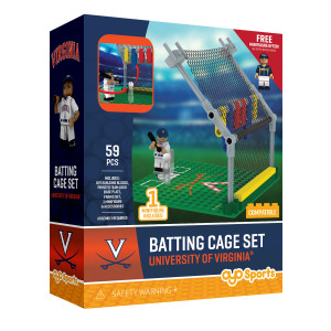 University of Virginia Batting Cage + Minifigure Set