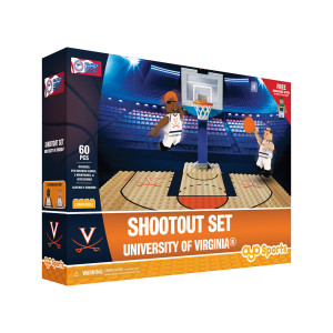 University of Virginia Basketball Court + 2 Minifigure Set