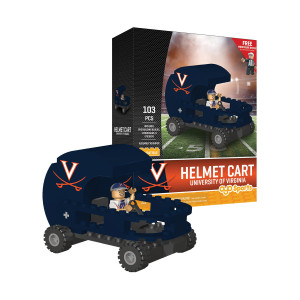 University of Virginia Football Helment Car + Minifigure Set
