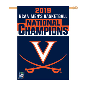 2019 National Champions Vertical Flag