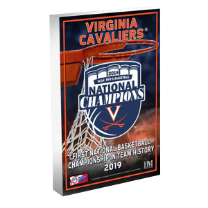 University of Virginia 2019 Champions 3D Acrylic BlocKart