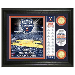 University of Virginia 2019 Champions Banner Bronze Coin Photo Mint