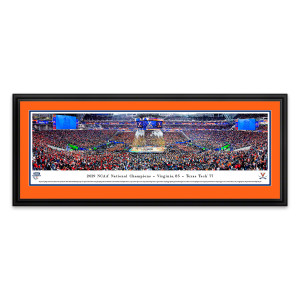 2019 NCAA Champions Framed Panoramic Image With Orange Matting
