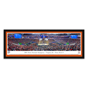 2019 UVA NCAA Champions Framed Panoramic Image With White Matting