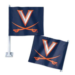 """UVA Car Flag - 11.75""""x14"""""""