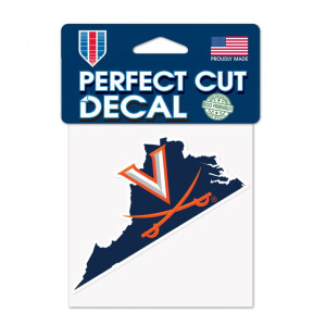 "UVA Perfect Cut State Decal - 4""x4"""