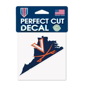 """UVA Perfect Cut State Decal - 4""""x4"""""""