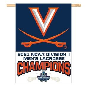 """UVA 2021 Men's Lacrosse National Champ Banner - 28"""" x 40"""""""