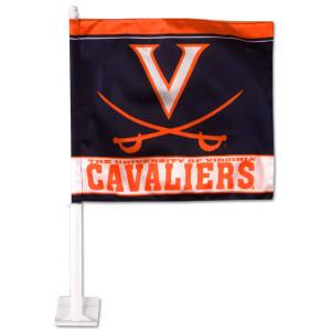 UVA Car Flag