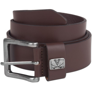 UVA Flat Concho Leather Brown Belt