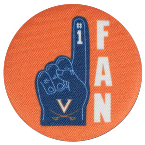 "UVA Foam Finger 2.25"" Fabric Fan Pin"