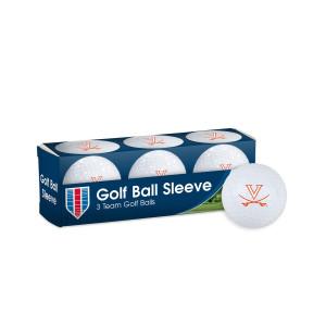 UVA 3 Pack Sleeve Golf Balls