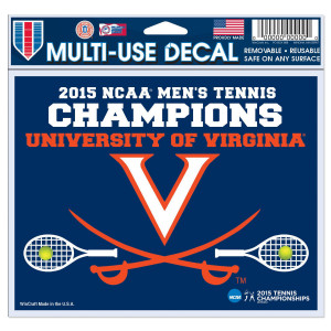 UVA 2015 Men's Tennis Champions Decal