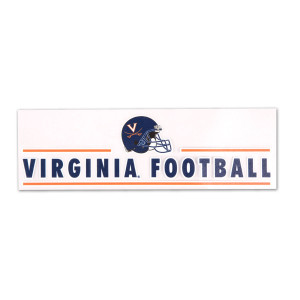 "Virginia Football 3"" x 10"" Perfect-Cut Decal"