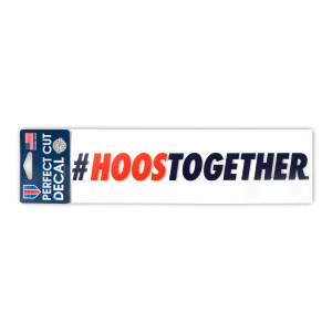"University of Virginia #HOOSTOGETHER Perfect Cut Decal - 3"" x 10"""