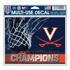 University of Virginia 2018 ACC Champs Multi-Use Decal
