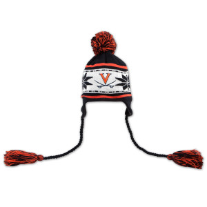UVA Striped Snowflake Knit Cap