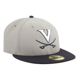 UVA Baseball New Era Mesh Practice Fitted Replica Cap