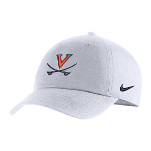 University of Virginia Nike White V-Saber Hat