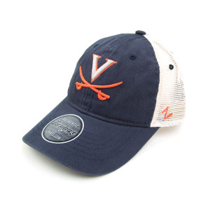 University of Virginia Mesh Back Stain Washed Hat