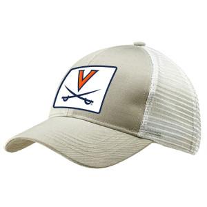 Beige UVA Trucker Hat with Patch