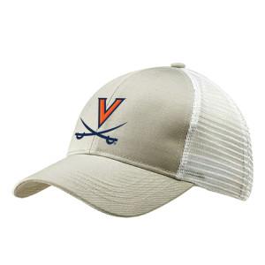 Beige UVA Embroidered Trucker Hat