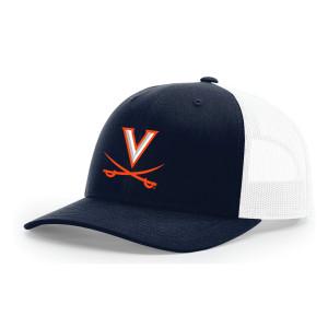 Navy UVA Embroidered Trucker Hat